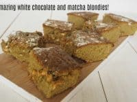 White Chocolate Matcha Blondies....