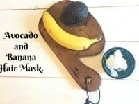 Thrifty Avocado and Banana Hair Mask....