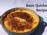 Basic Quiche Recipe - perfect for using up leftovers....