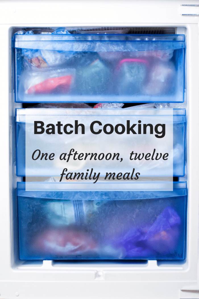 Batch Cooking - one afternoon, twelve family meals