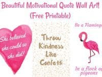 Beautiful Motivational Quote Wall Art {Free Printable}....