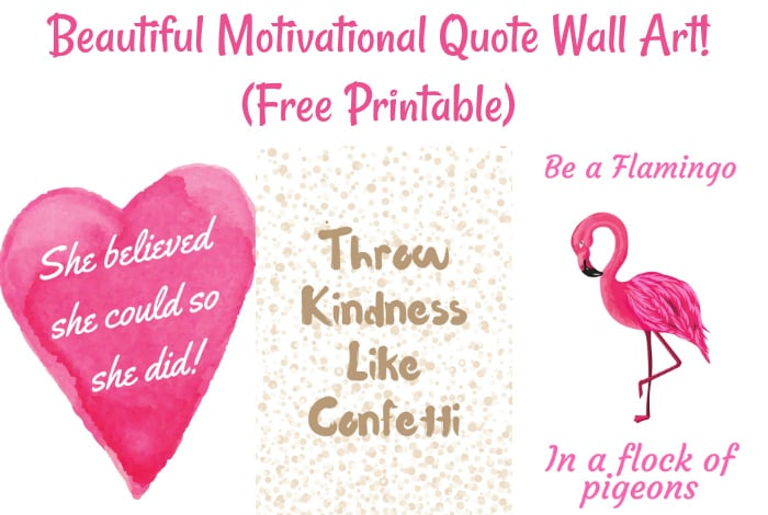 picture regarding Free Quote Printable known as Desirable Motivational Estimate Wall Artwork Absolutely free Printable