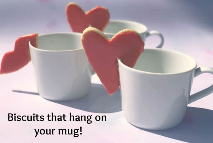 Biscuits that hang on your mug