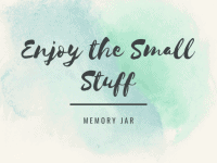 Homemade Memory Jar - perfect for you or to give as a gift...