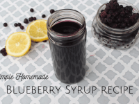 Simple homemade blueberry syrup recipe....