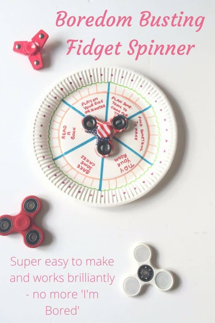 Bored jars are so last year, this years new thing here in the frugal house is our homemade Fidget Spinner Boredom Buster!  Keep the kids occupied in the summer by including fun activities you know they'll enjoy!