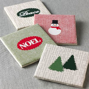 DIY Holiday Coasters