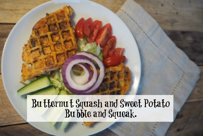 Butternut Squash and Sweet Potato Bubble and Squeak….