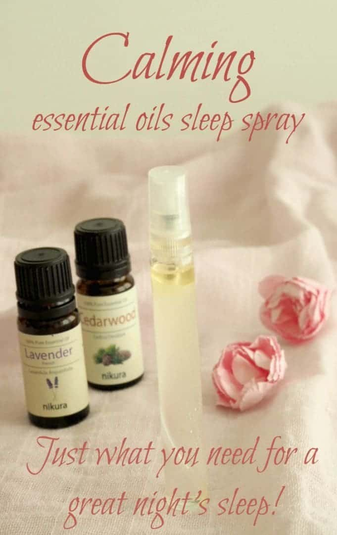 Calming essential oils sleep spray. Just what you need to to get a great night's sleep.