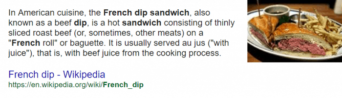 What is a french dip sandwic