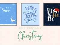 Free Printable Christmas Wall Art....