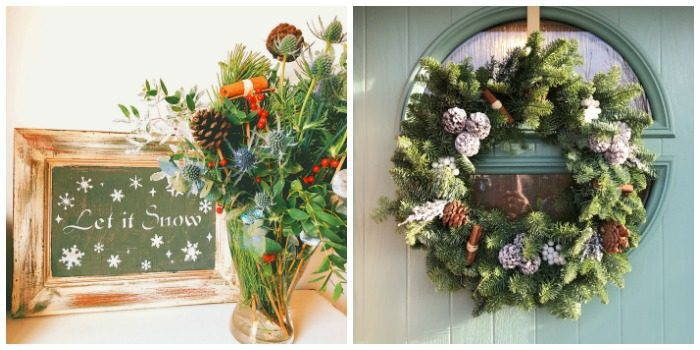 Christmas Wreath and bouquet