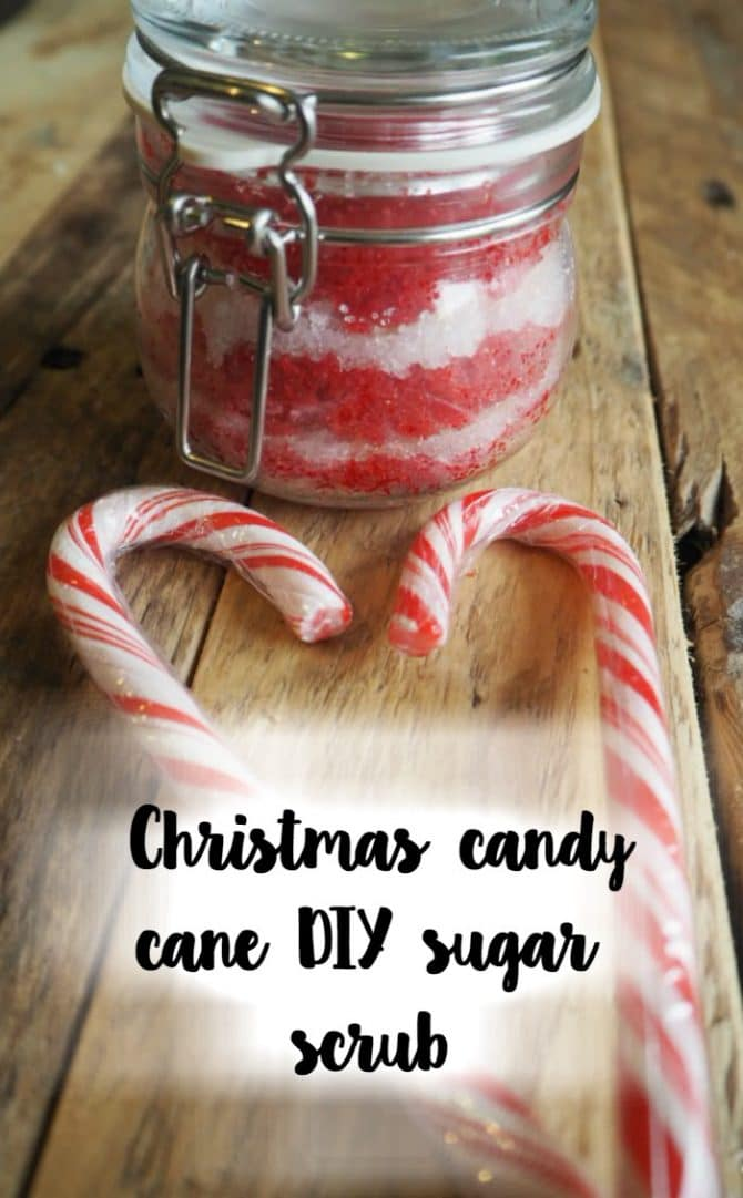 Christmas candy cane sugar scrub