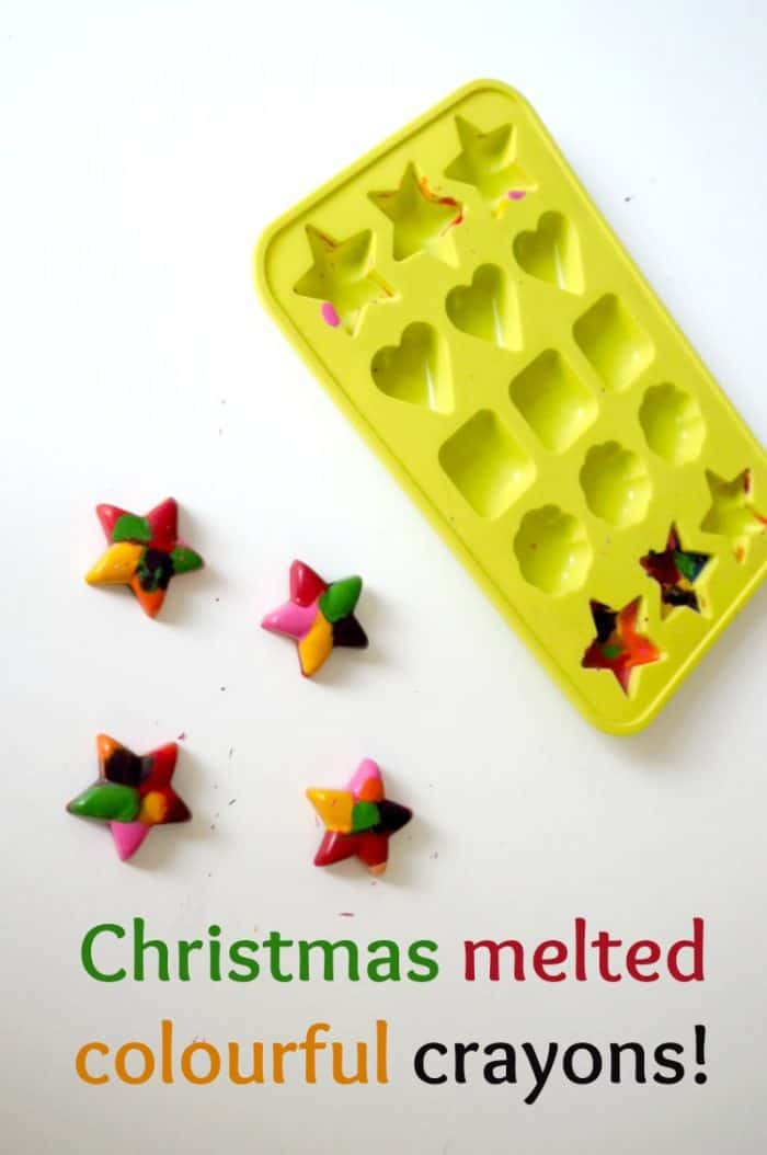Christmas melted colourful crayons!