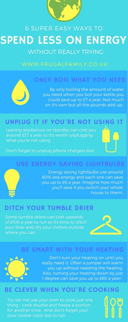 Six super easy ways to spend less on energy without even trying....