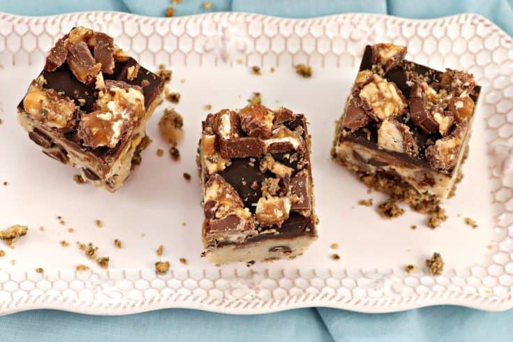 Amazing Snickers Cookie Dough Bars