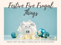 Five Frugal Things we did this week {13th December 2019}....