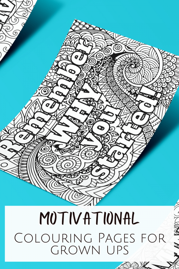Motivational Colouring pages for grown ups
