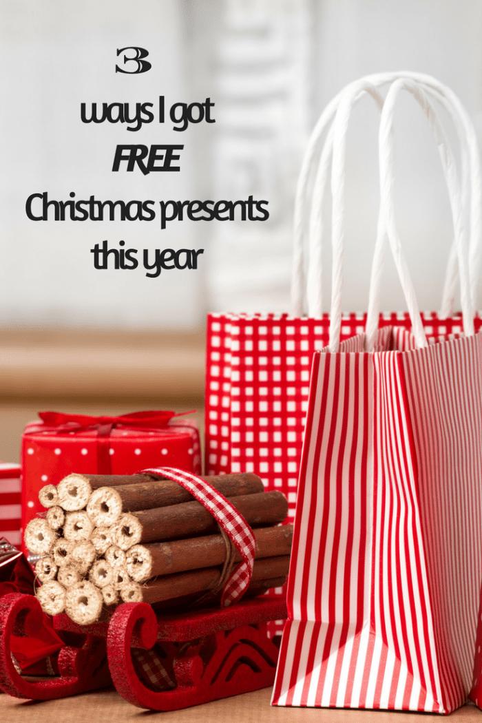 Three Ways I got FREE Christmas presents this year
