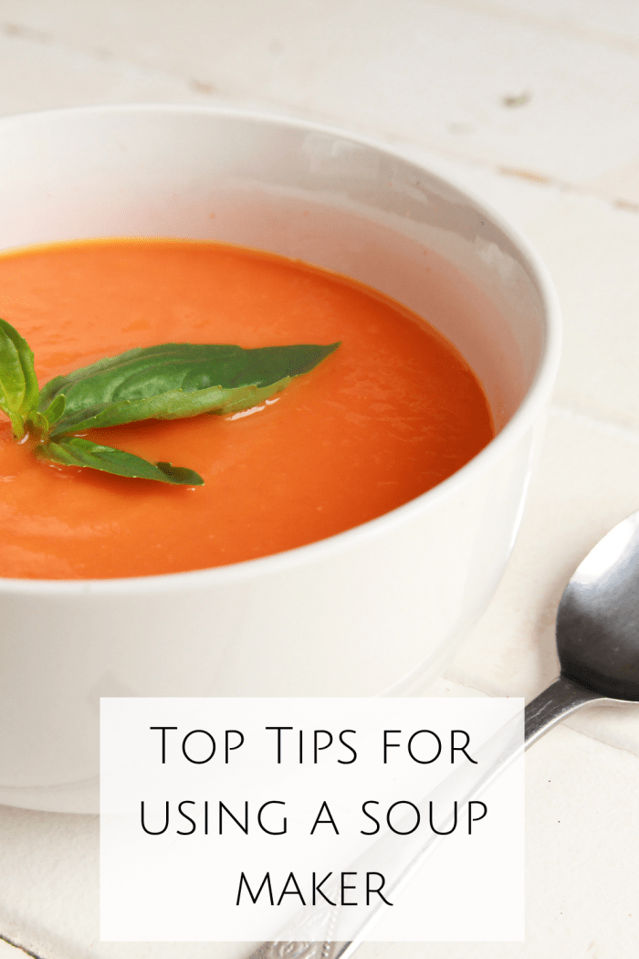 If you're looking for some soup maker tips and tricks to help you make amazing soups in your soup maker then look no further!