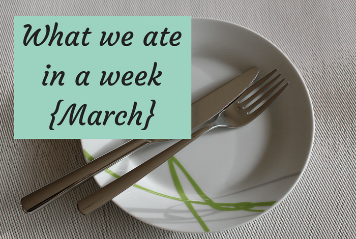 What we ate in a week