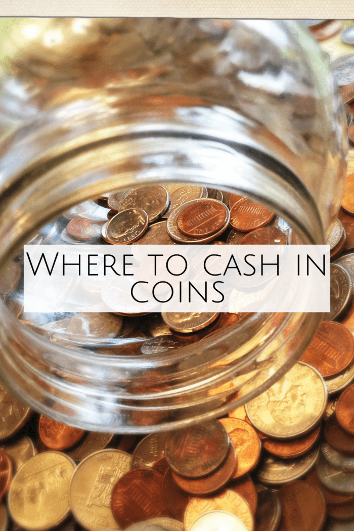 Where to cash in coins for free or for a small charge