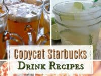 Copycat Starbucks Drink Recipes....