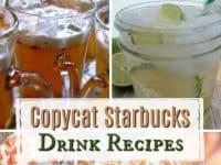 Copycat Starbucks Drink Recipes....