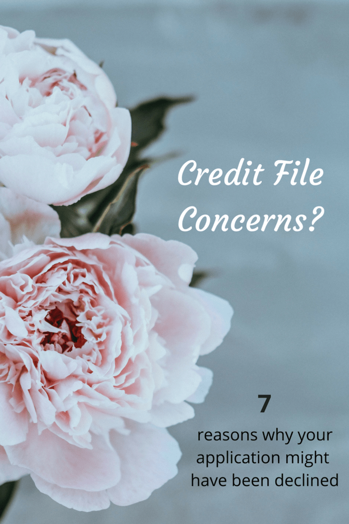{Credit File Concerns} Are you on a blacklist? And 7 reasons why your application might have been declined.