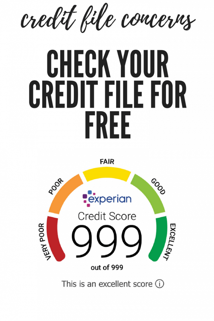 check your credit file for free