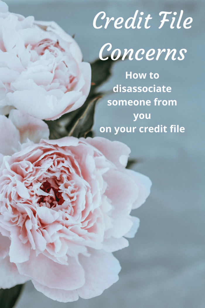 How to disassociate someone from you on your credit file