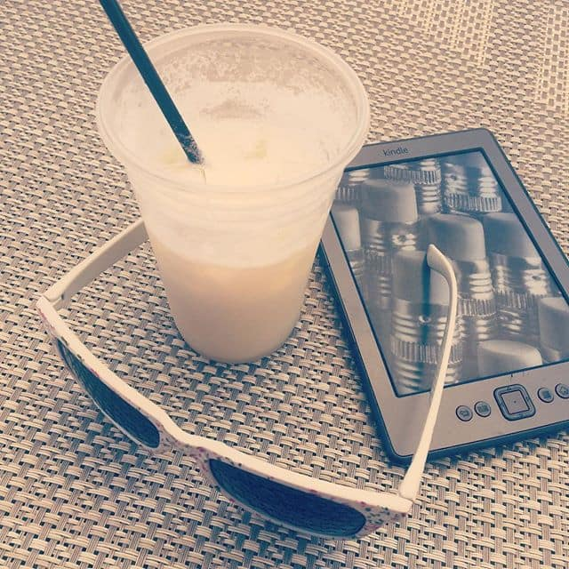 My KIndle goes everywhere with me