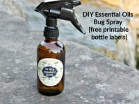 DIY Essential Oils Bug Spray {with free printable bottle labels}....