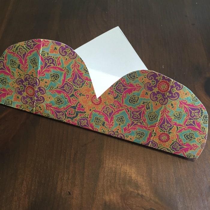 DIY Folded Paper Envelope Tutorial - step 2