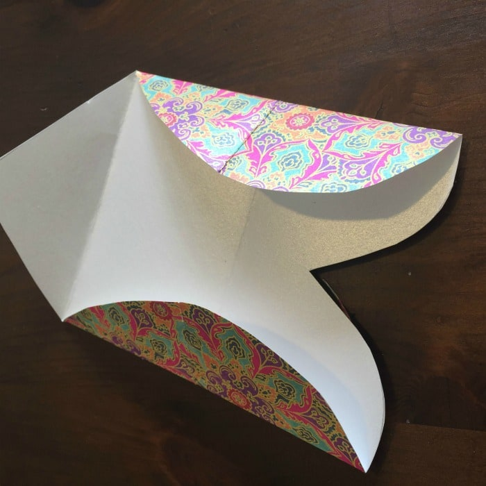 DIY Folded Paper Envelope Tutorial - step 3