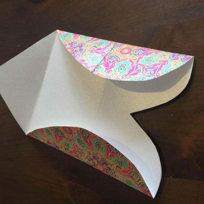 DIY Folded Paper Envelope Tutorial - step 3