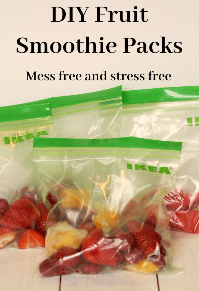 DIY Fruit Smoothie Packs - mess free and stress free