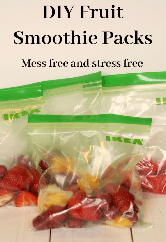 DIY Fruit Smoothie Packs - mess free and stress free