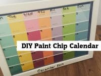 DIY Paint Chip Calendar....