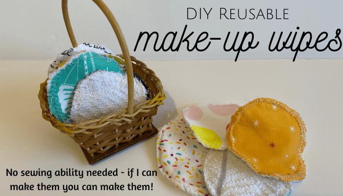 DIY reusable make up wipes