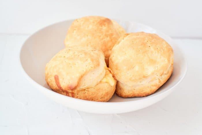 Homemade cheesy bread buns