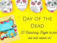 Day of the Dead Colouring Pages {Free Printable}....