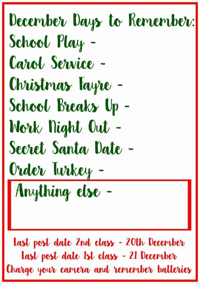 Free Christmas Planner Printable to help you stay organised over Christmas this year.