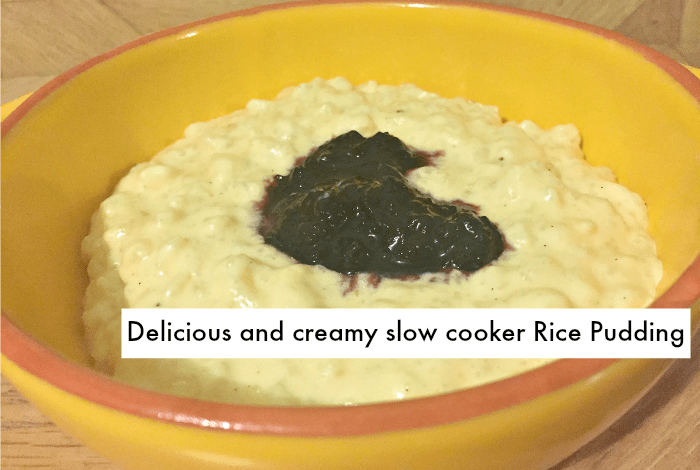 Homemade Delicious And Creamy Slow Cooker Rice Pudding
