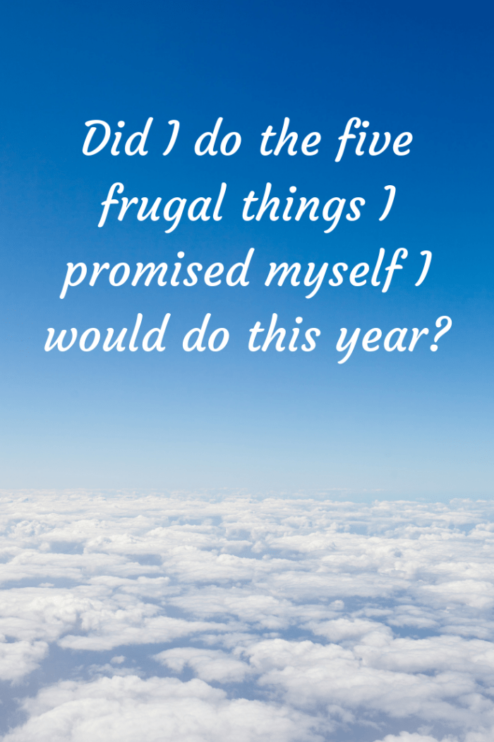 Did I do the five frugal things I promised myself I would do this year_ (1)