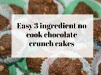 Easy 3 ingredient no cook chocolate crunch cakes....