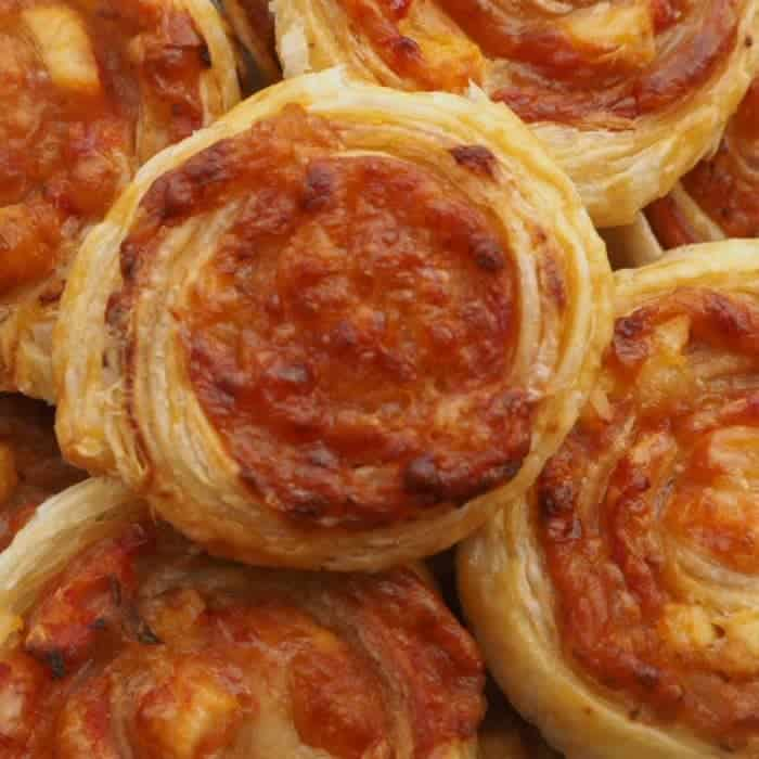 Easy Packed Lunch Pizza Swirls