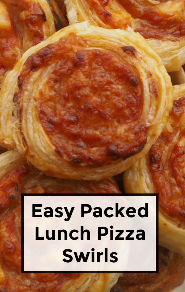 Easy Packed Lunch Pizza Swirls - easy to make and delicious to eat.