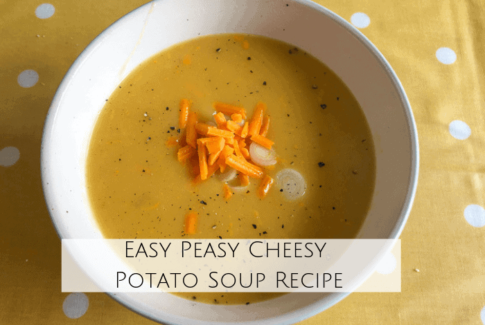 Easy peasy cheesy potato soup recipe.