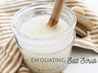 Homemade DIY Exfoliating Salt Scrub....